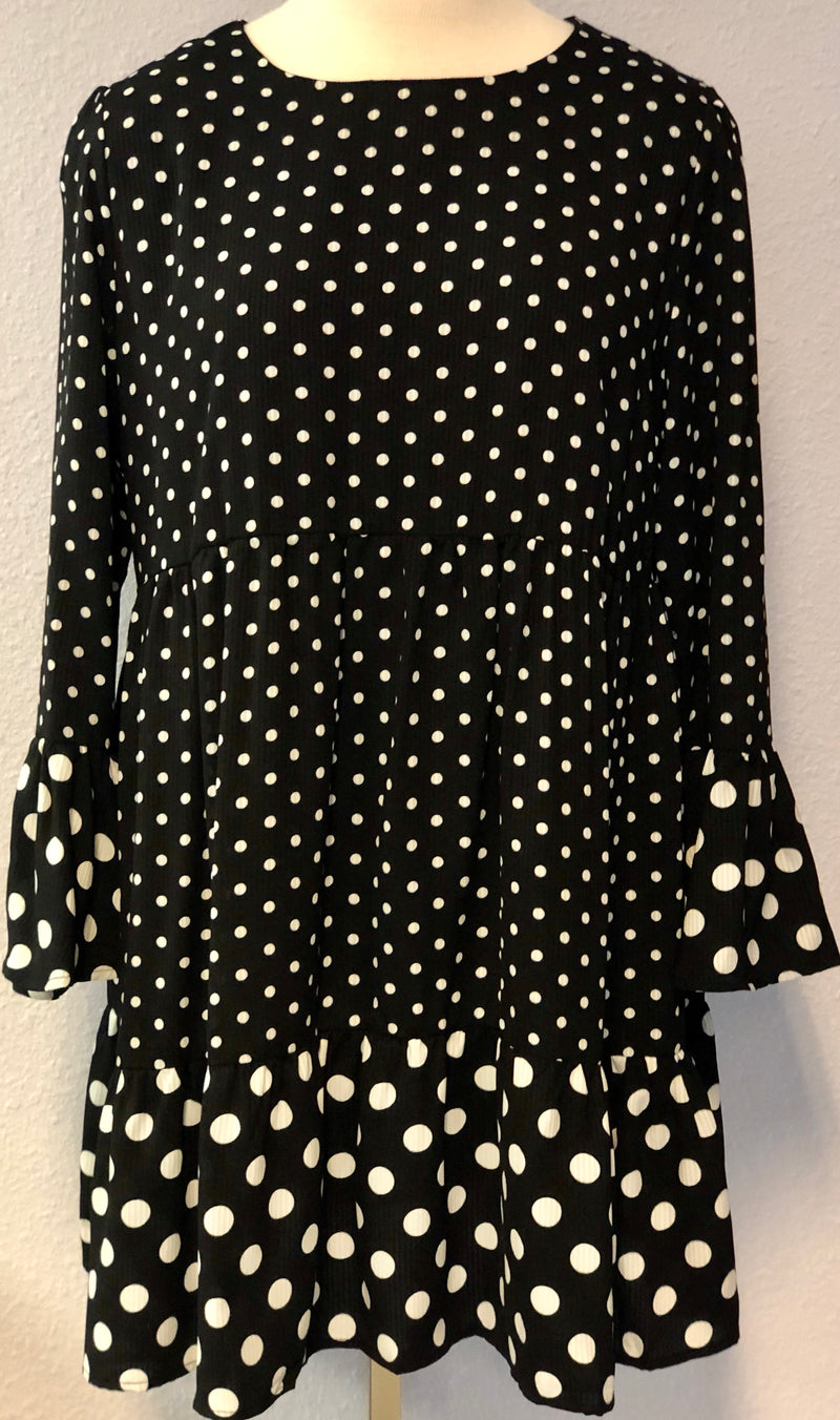 POLKA DOT BABYDOLL DRESS