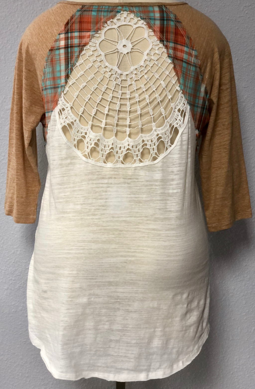 RAGLAN SLEEVE CROCHET TOP