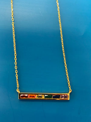 CHAKRA BAGUETTE BAR NECKLACE