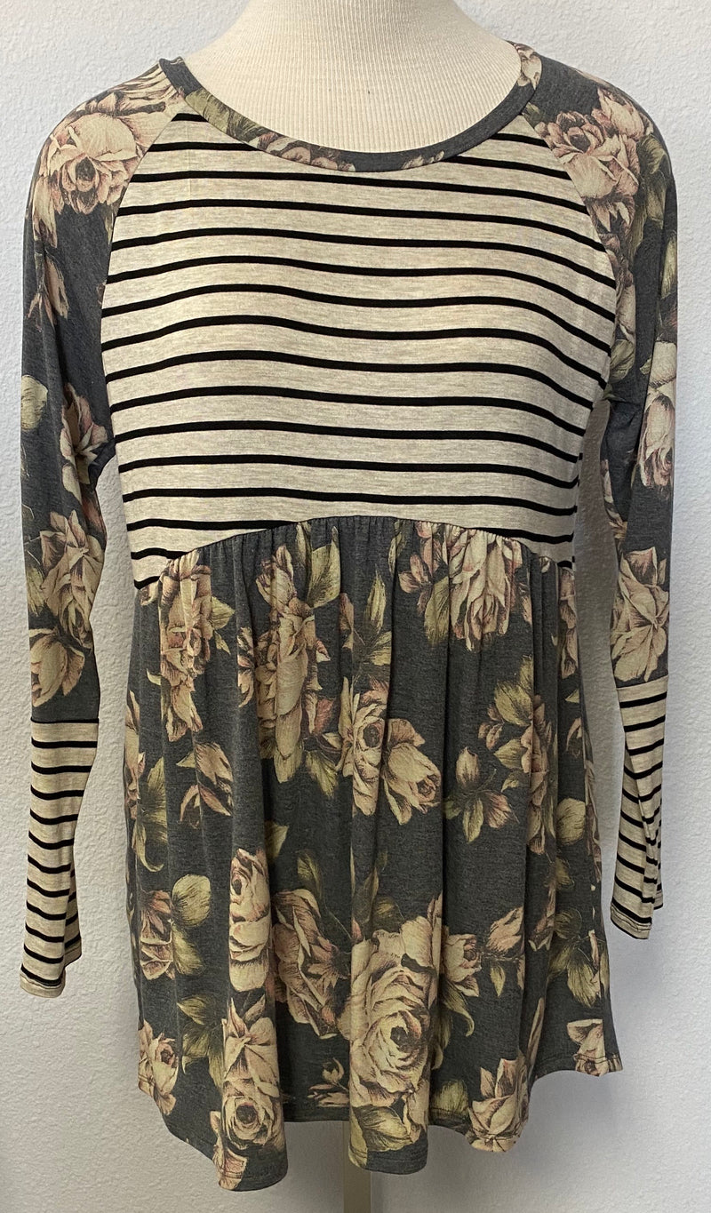 LS CONTRAST TUNIC TOP