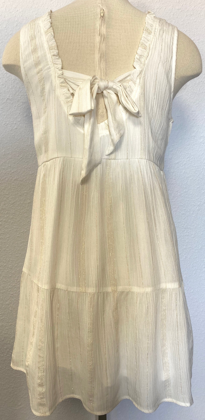 BABYDOLL LUREX TIE DRESS