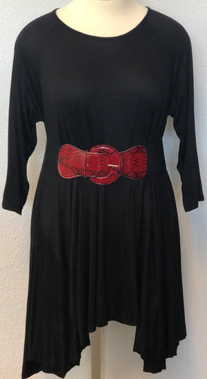 PLUS TUNIC TOP WITH BELT