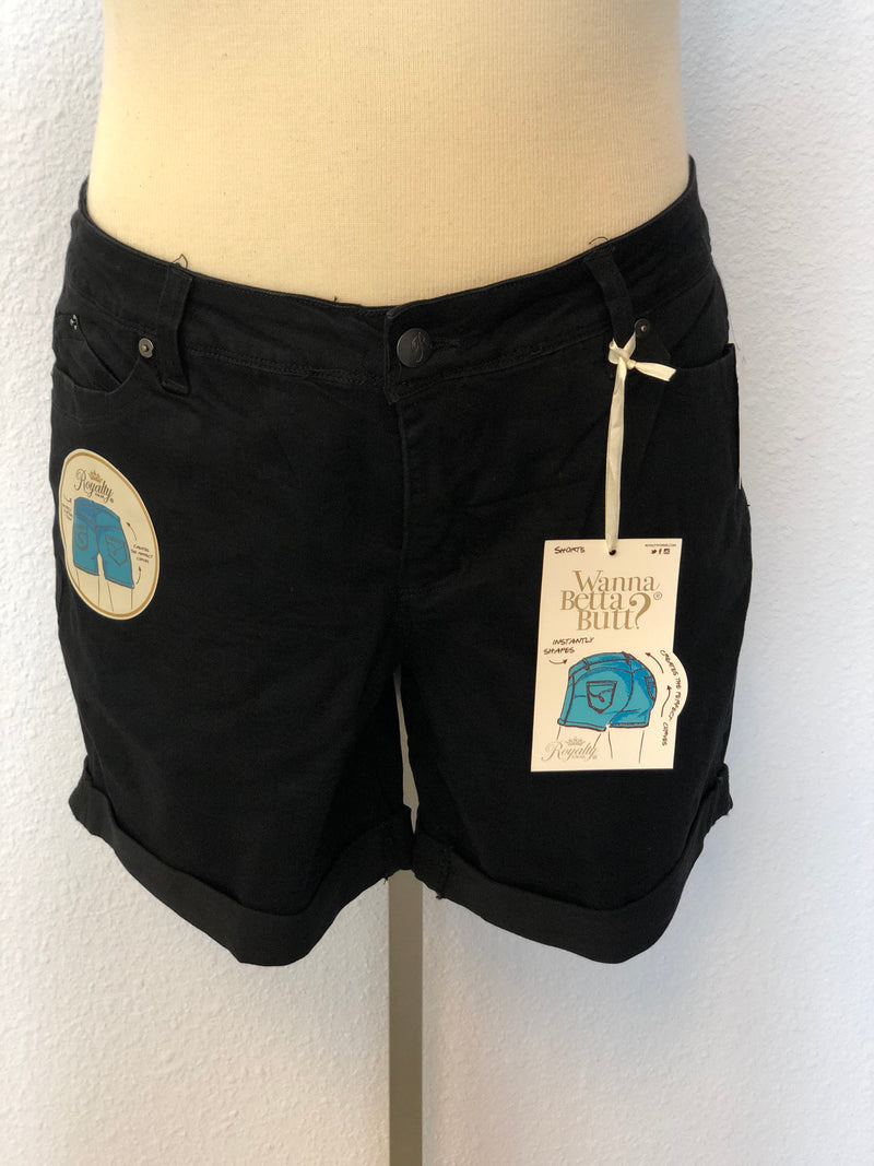 PLUS SIZE WANNABETTABUTT CUFFED SHORTS