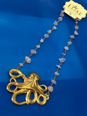 LARGE OCTOPUS PENDANT NECKLACE