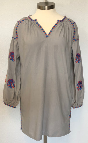 BABYDOLL EMBROIDERED TUNIC