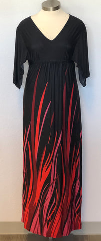 PLUS FLAME MAXI DRESS
