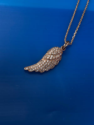 PAVE RIGHT WING NECKLACE