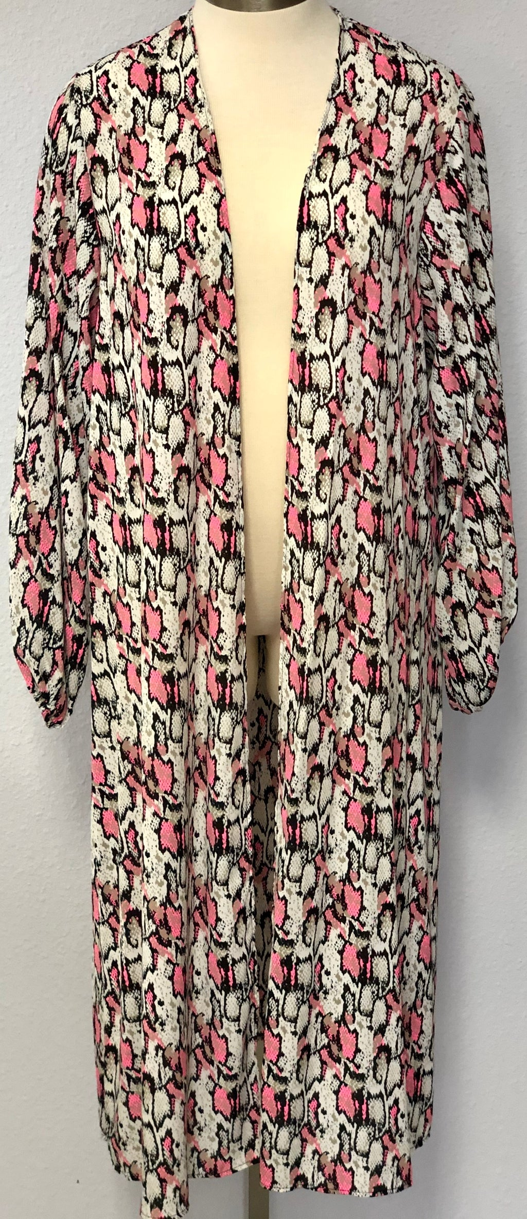 LS PUFFY SNAKE CARDIGAN