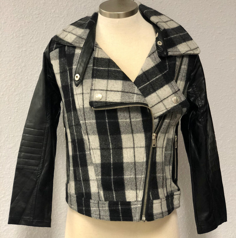 K ZIPPER PLAID JACKET
