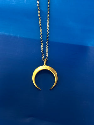 SMALL CRESCENT CHARM NECKLACE
