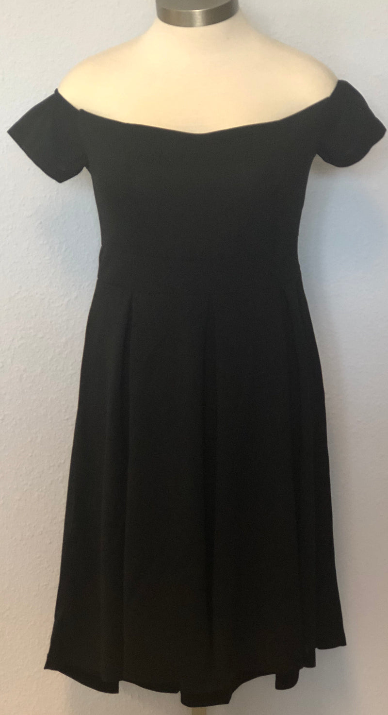 PLUS OFF SHOULDER SOLID DRESS