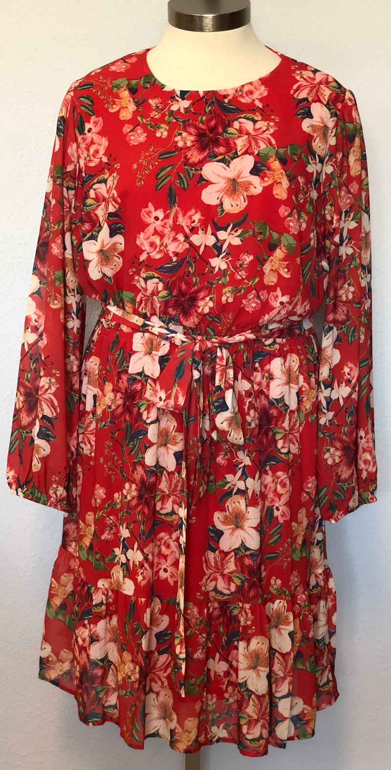 LONG PEASANT SLEEVE MINI DRESS