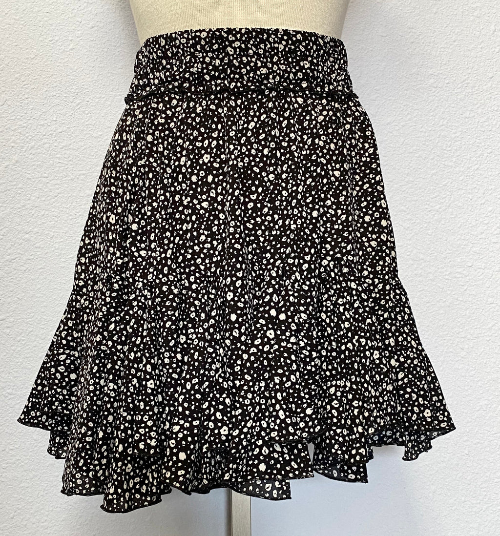 DITZY LEOPARD MINI SKIRT