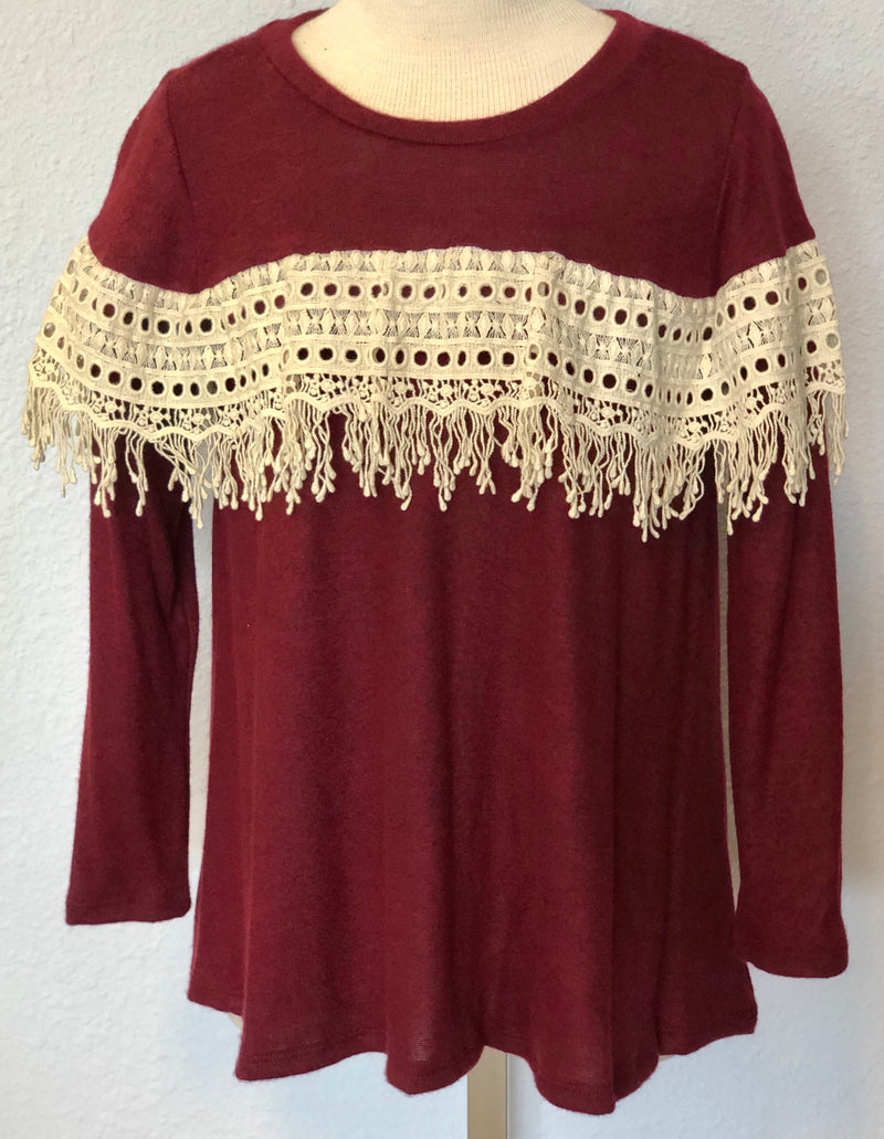 K HACCI CROCHET DETAIL TOP