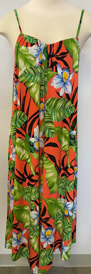 TROPICAL SLEEVELESS JUMPSUIT
