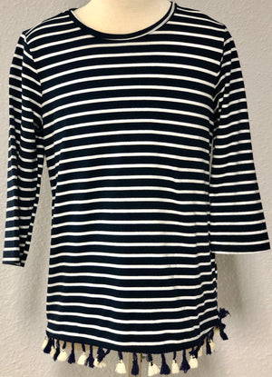 K STRIPED TUNIC TOP