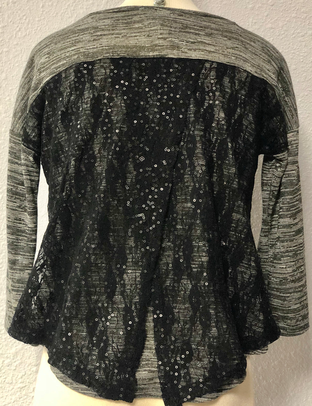 K SEQUIN HEART SWEATER