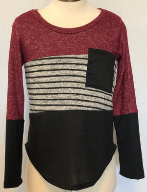 K COLOR BLOCK HACCI TOP
