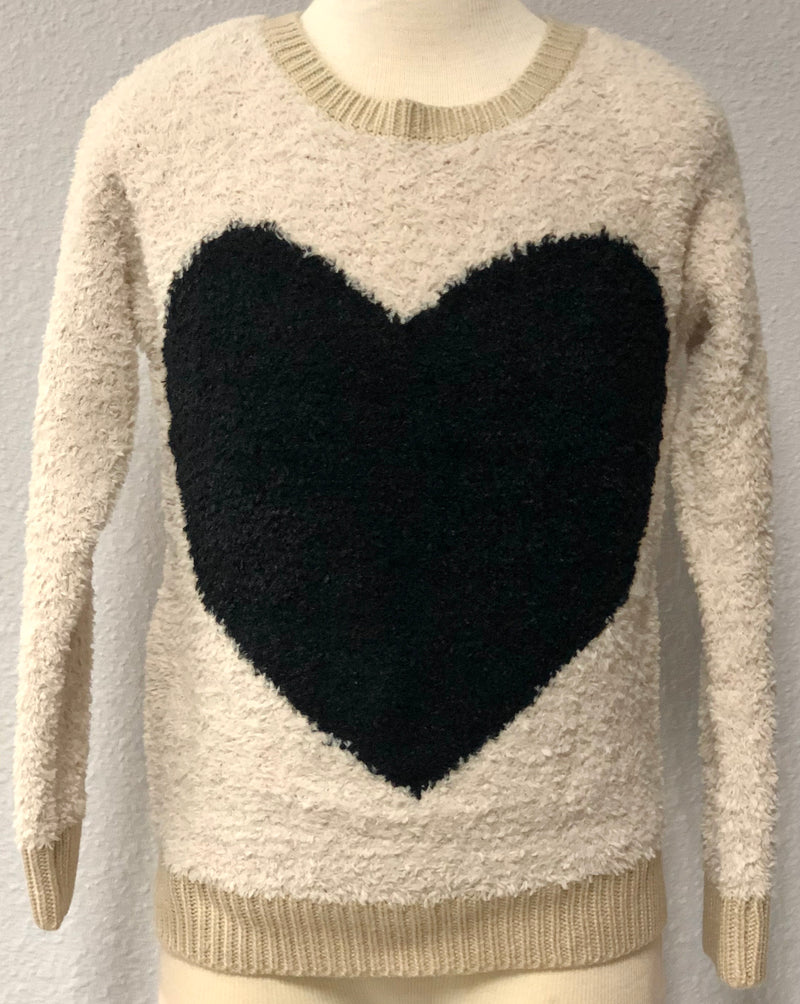 K TERRY HEART SWEATER
