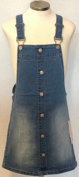 K DENIM OVERALL SKIRT