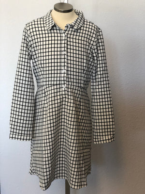 K GRID SHIRT DRESS