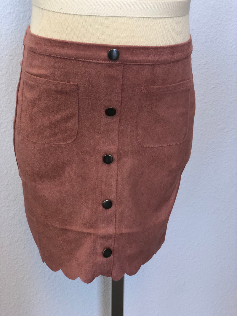 K FAUX SUEDE SKIRT