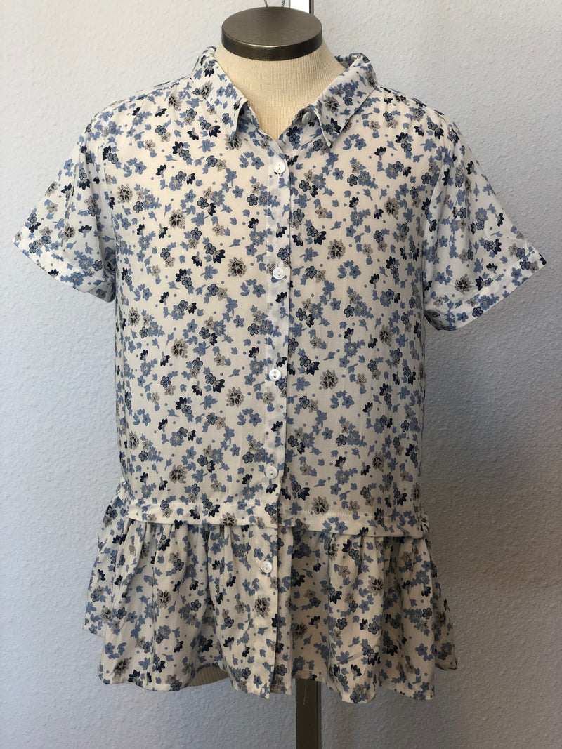 K FLORAL BUTTON TOP