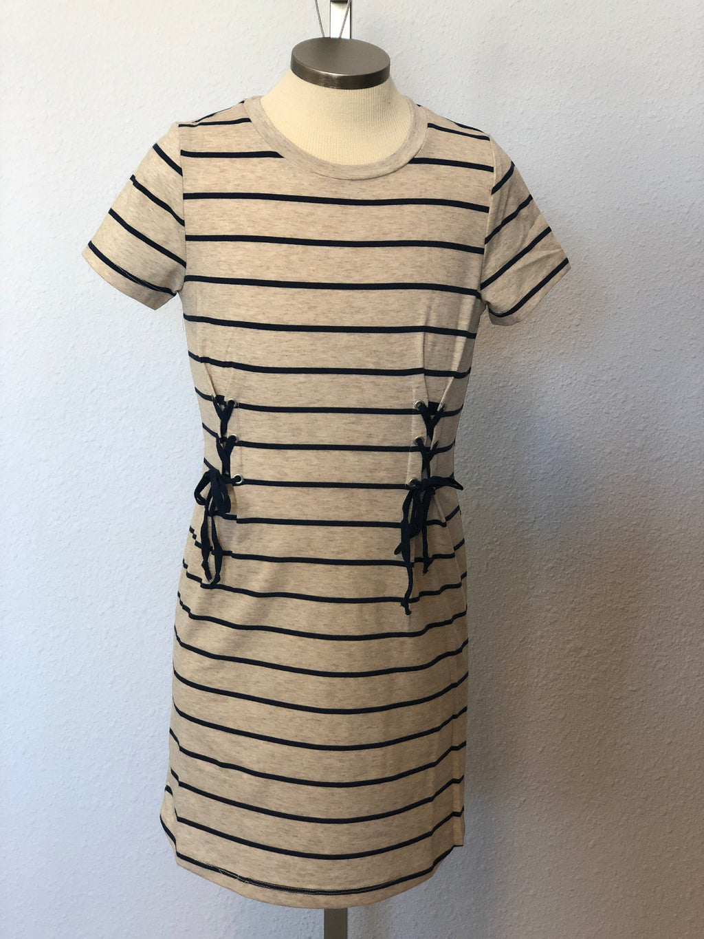 K STRIPED T-SHIRT DRESS