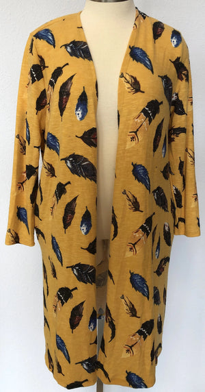 FEATHER PRINT CARDIGAN
