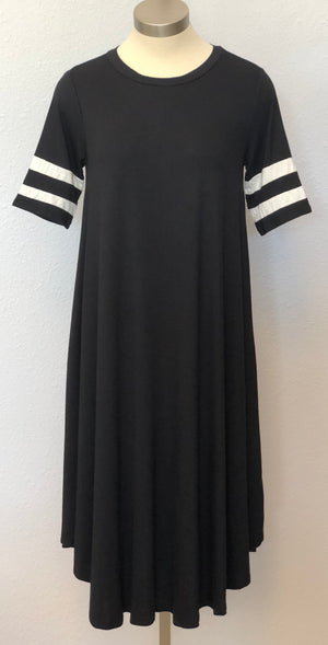 SLEEVED JERSEY DRESS