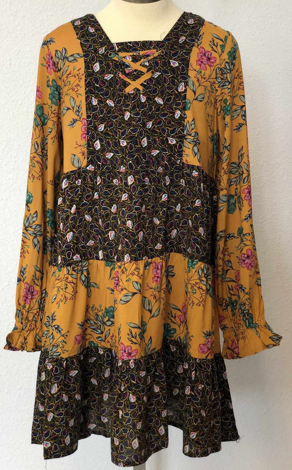 K FLORAL PEASANT DRESS