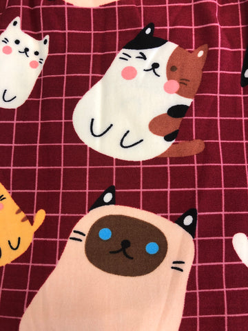 PLUS CARTOON CAT LEGGINGS