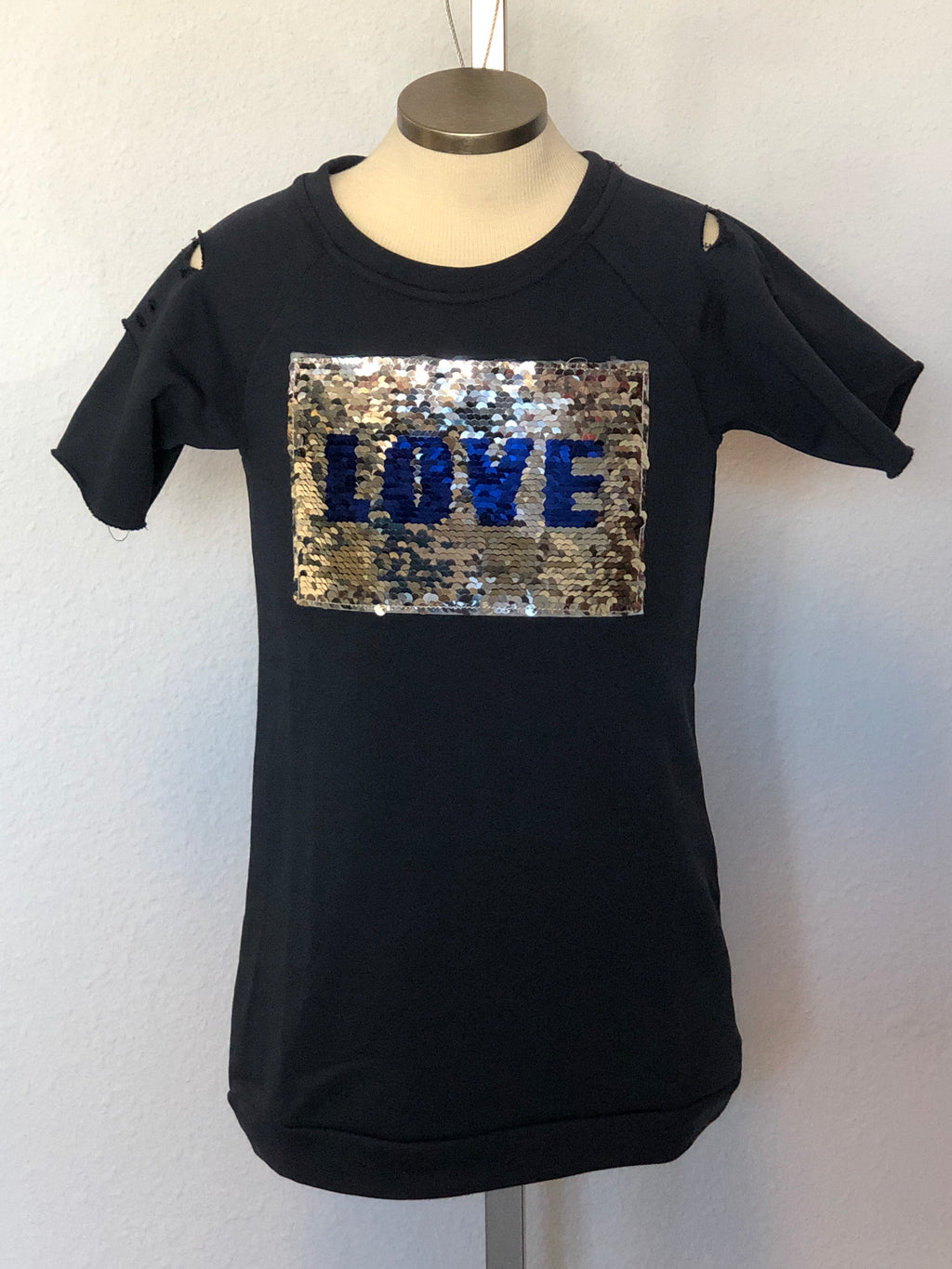 K SEQUIN LOVE DRESS