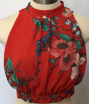 FLORAL OPEN SIDE TOP