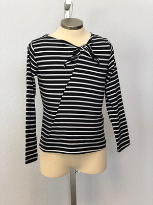 K STRIPED TIE TOP