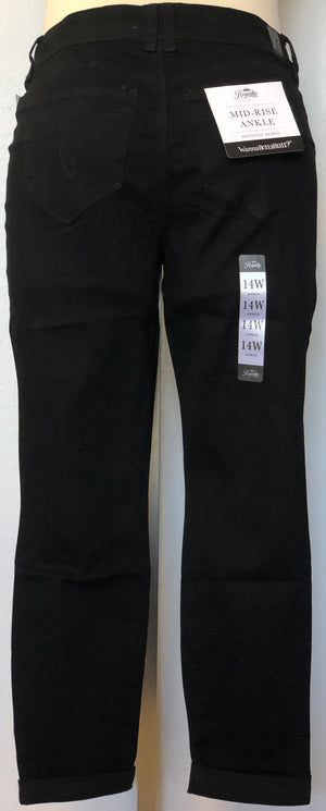 WWB 2 BNT MID RISE ANKLE  JEAN