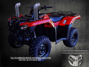 SYA Warrior Riser Snorkel kit for Honda Rancher 420 2014 - 2019