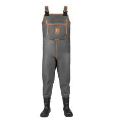 Men's Retro Series Neoprene Waders - Charcoal/Orange