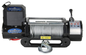VIPER Midnight 8500lb Recovery Winch - 85ft STEEL Cable