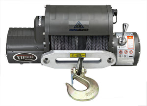 VIPER 12,000lb Recovery Winch - 85ft BLACK Rope