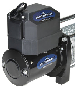 VIPER Midnight 8500lb Recovery Winch - 85ft BLACK Cable