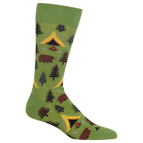 Hot Sox Mens Bear Tent Socks