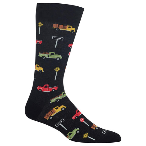 Hot Sox Mens Pick Up Trucks Socks