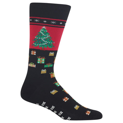 Hot Sox Mens Christmas Tree Non Skid Socks