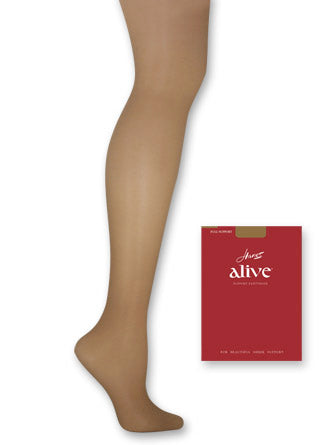 3 Pairs Hanes Alive Full Support Control Top Reinforced Toe Pantyhose 00810 Lot