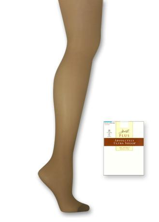 Hanes Plus Size Sheer Hosiery, Absolutely Ultra Sheer Control Top, Reinforced Toe 1-Pair Pack