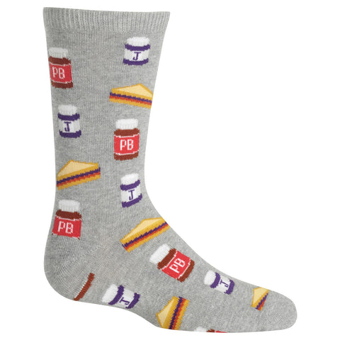 Hot Sox Kids Peanut Butter and Jelly Crew Socks