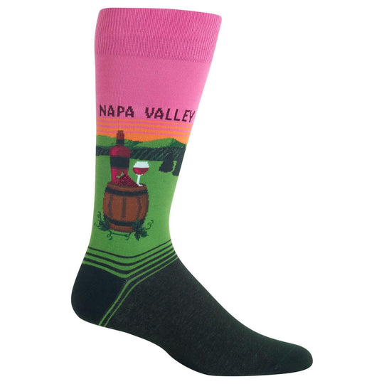 Hot Sox Mens Napa Valley Crew Socks