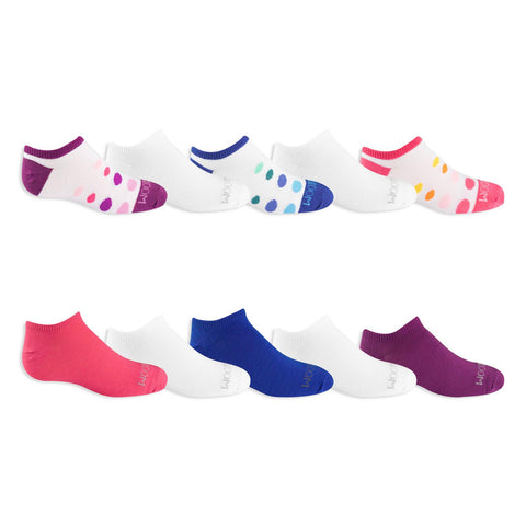Fruit Of The Loom Girls Everyday Soft No Show Socks 10 Pair