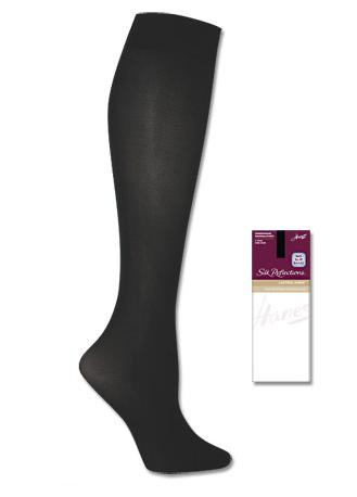 Hanes Silk Reflections Silky Sheer Knee Highs 1 Pair Pack